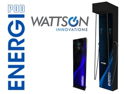Bornes EnergiPod par Wattson Innovations